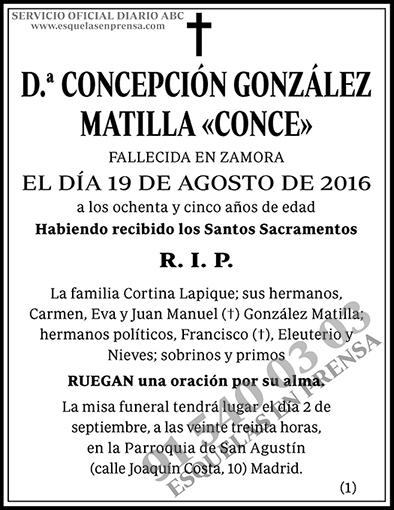 Concepción González Matilla